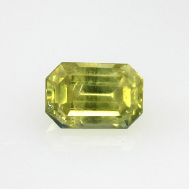 0.64cts Natural Australian Yellow Sapphire Emerald Cut