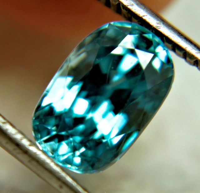 3.98 Carat VVS Blue Southeast Asian Zircon - Gorgeous