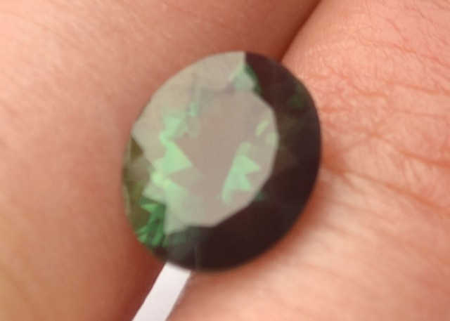 3.97 Carat Oval Cut Green Andesine