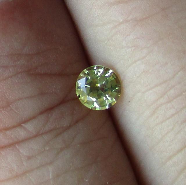 0.43cts Natural Australian Yellow Sapphire Round Cut