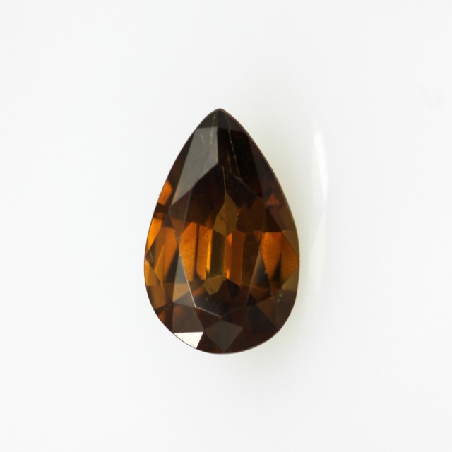 1.12cts Natural Australian Brownish/Red Zircon Pear Shape