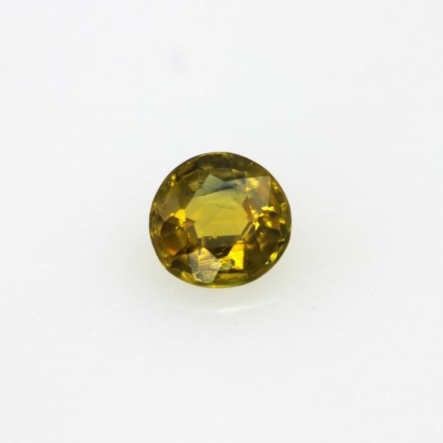 0.38cts Natural Australian Golden Sapphire Round Cut