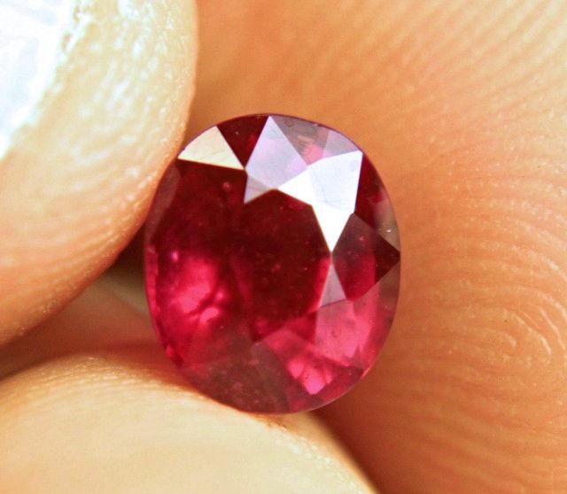 2.67 Carat Fiery Purplish Red Ruby