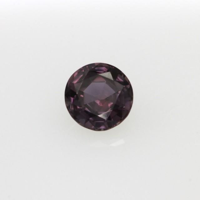 0.45cts Natural Songea Purple Sapphire Round Cut