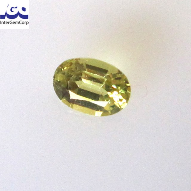 0.39cts Natural Australian Yellow Parti Sapphire Oval Cut