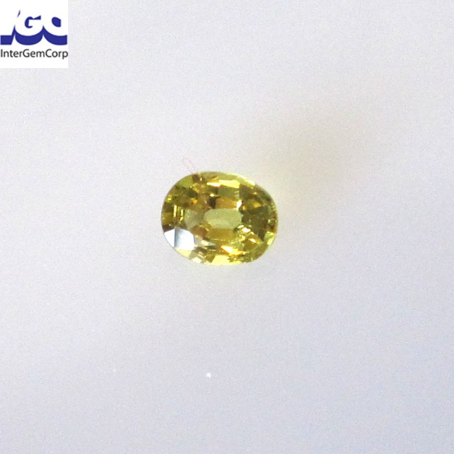 0.29cts Natural Australian Yellow Parti Sapphire Oval Cut