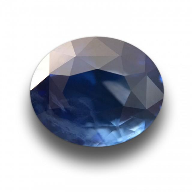 2.07 CTS Natural Blue Sapphire  Loose Gemstone New Certified  Sri Lanka