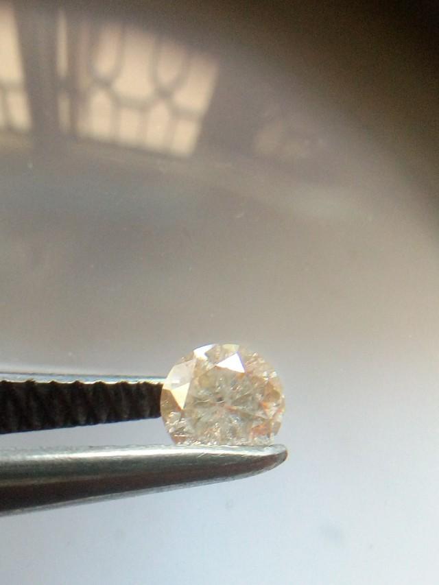 NATURAL -CHAMPANGEPINK DIAMOND, 0.35CTWSIZE,1PCS