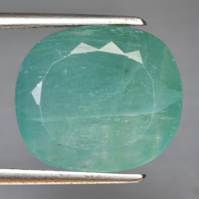 10.94 Cts Natural Green Grandidieite Cushion Cut Madagascar Gem