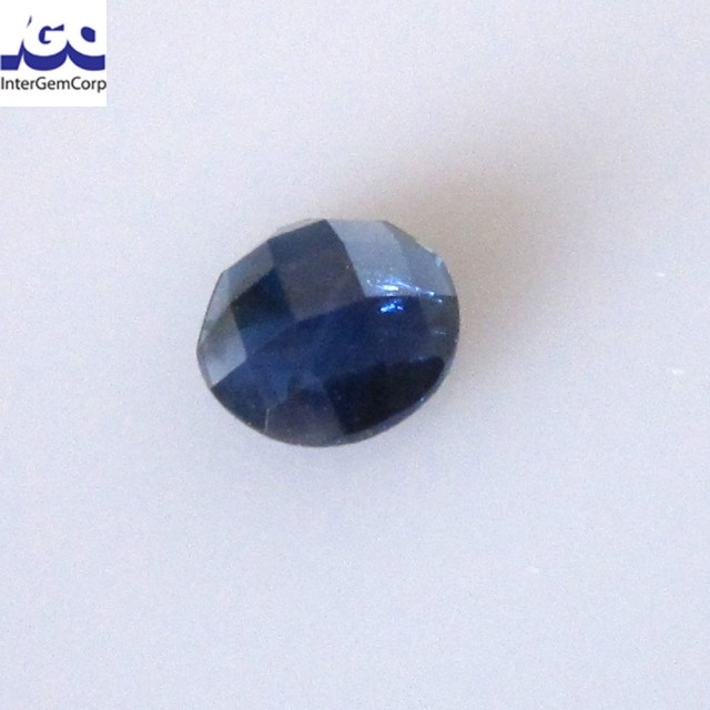 0.80cts Natural Australian Blue Sapphire Round Checker Board Cut