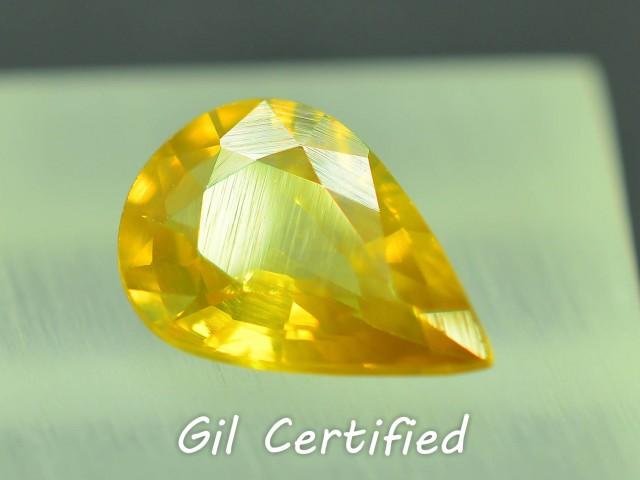 GiL Certified 2.54 ct Natural Yellow Zircon Untreated Combodia PR.1