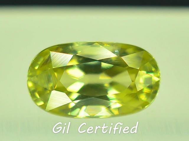 GiL Certified 1.88 ct Natural  Zircon Untreated Combodia PR.1