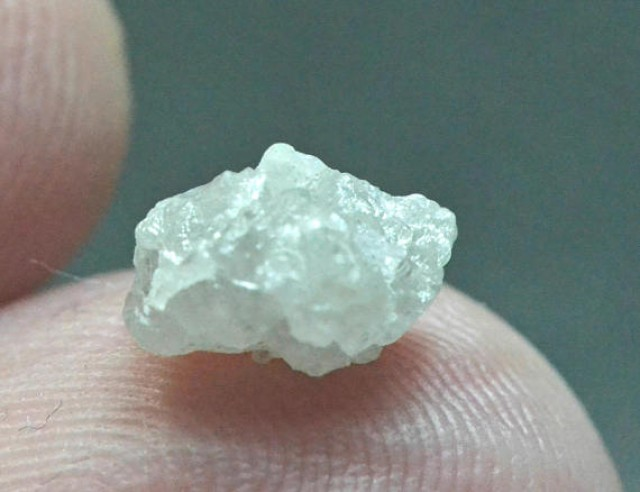 1.75ct 8.1mm white diamond rough crystal 8.1 by 6.5 by 5.6mm natural untrea