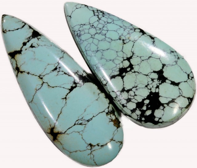 16.20 CTS TURQUOISE -CLOUD MOUNTAIN- NATURAL STONES [STS487]