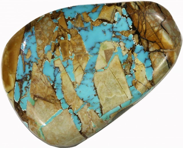54.7 CTS TURQUOISE -ROYSTON RIBBON- NATURAL STONE [STS503]