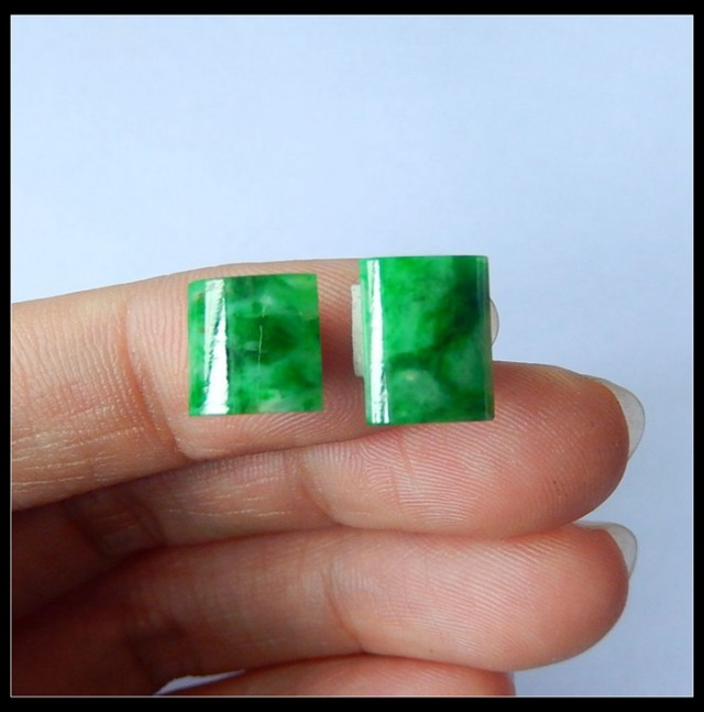 Sell 2pcs Fashion Natural Jadeite Cabochon  beads 3ct(A316)
