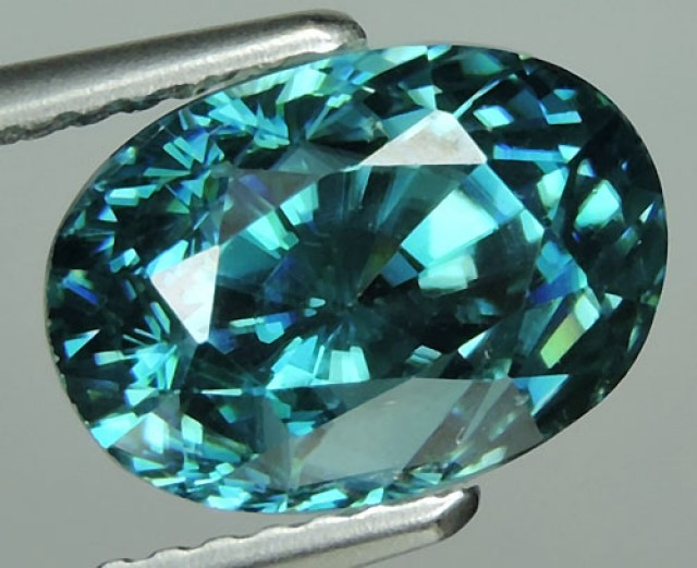6.90 CTS WONDERFULL OVAL CUT BLUE  ZIRCON BEAUTIFUL~