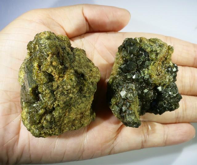 Green Grossular Garnet Cluster Specimen  PPP 1152