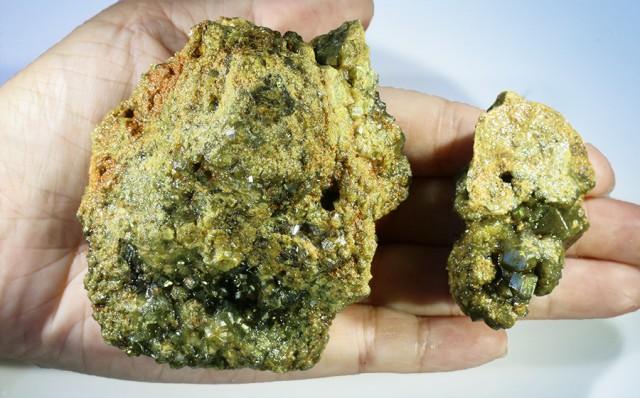 Green Grossular Garnet Cluster Specimen  PPP 1154