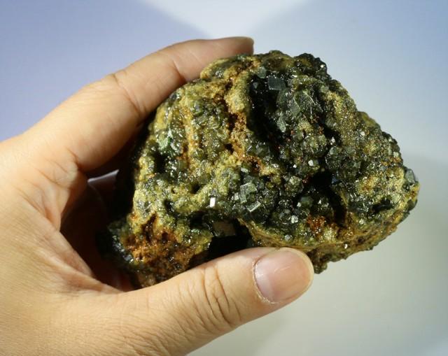 Green Grossular Garnet Cluster Specimen  PPP 1158