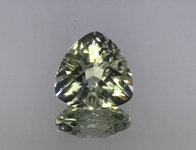 Natural Green Amethyst Shiny Luster Faceted Cut Gemstone