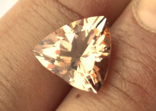 6.40 Carat Trillion Cut Fine Morganite