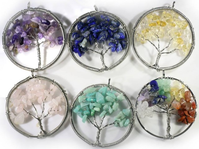 Six Tree of Life Gemstones jewelry  JGG 183