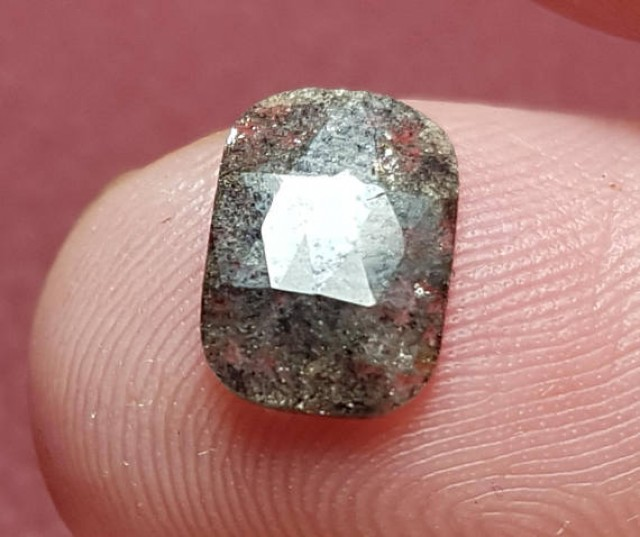 9.25mm salt pepper diamond cushion shape black and white