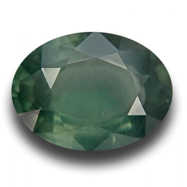 3.30 CTS |Natural Green Sapphire | Loose Gemstone| Cretified| Sri Lanka - N