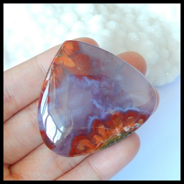 Natural Indonesian Agate Cabochon,42x44x9mm,128.5ct(17032109)