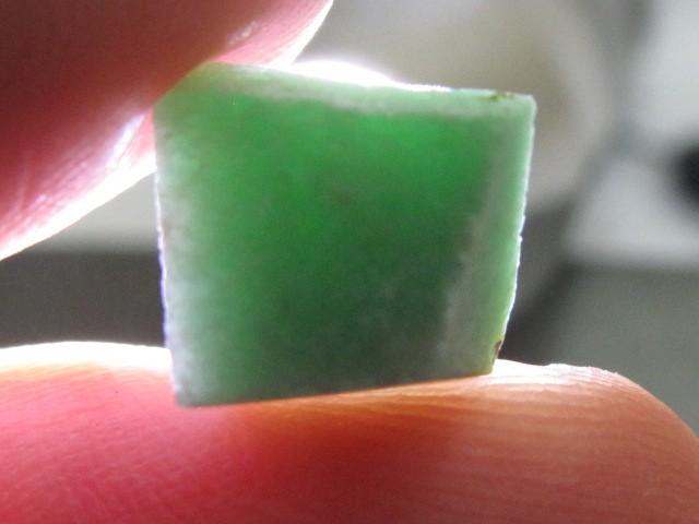 3.73 ct Apple Green Jade Rough Stone