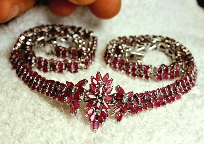 274.5 Tcw. Genuine Ruby Necklace - Superb