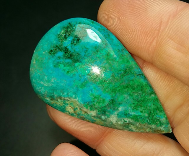 44mm 54ct chrysocolla azurite malachite dioptase 44 by 27 by 6mm