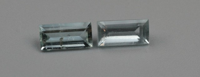AQUAMARINE RECTANGULAR CUT PAIR