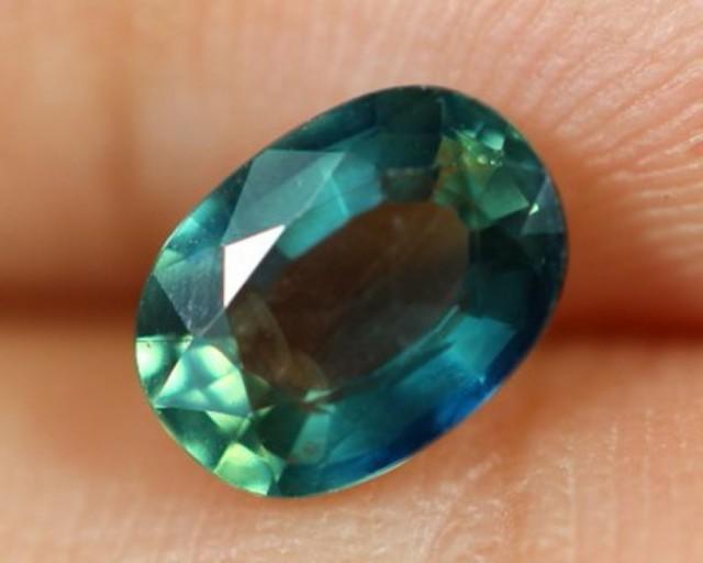 1.02ct Natural Oval Cut Siamese Greenish Blue Heated Sapphire
