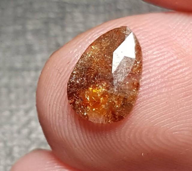 9.25mm cayenne diamond orange brown 0.71ct