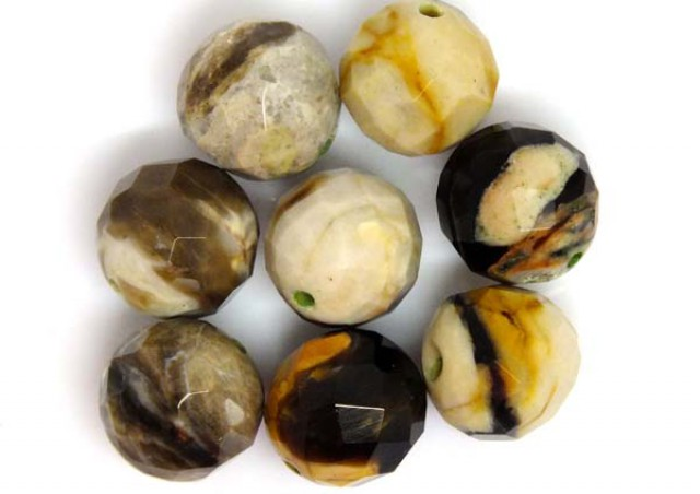 PETRIFIED WOOD BEADS, (8 PC) 63 CTS NP-1200