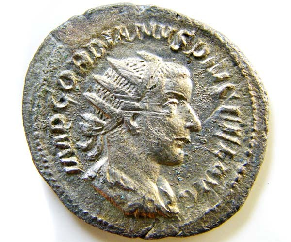 ROMAN PROVINCIAL COIN SILVER  GORDIAN 111 ANTONINIANUS  AC76