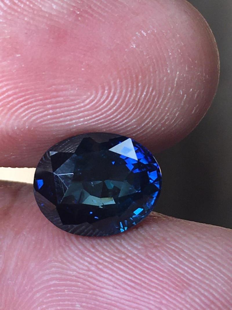 3.7 CTS Natural greenish Blue sapphire  Loose Gemstone New Certified  Sri L
