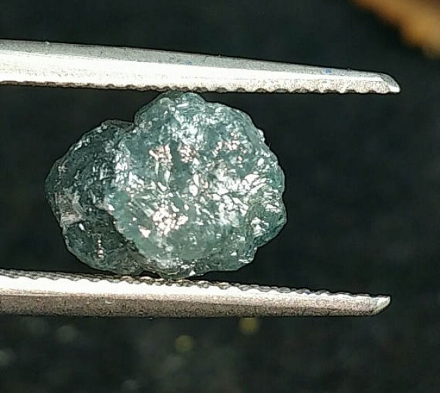 4.05ct 10mm BLUE DIAMOND rough gemstone 10 by 8 by 6mm