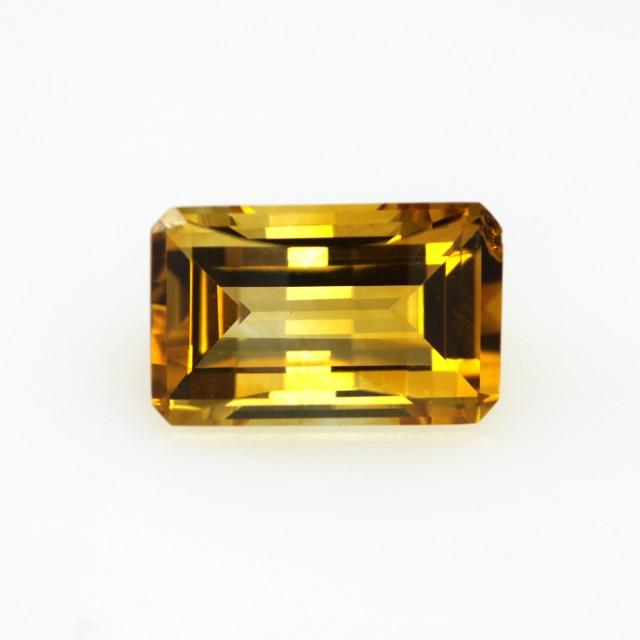 4.26cts Golden Yellow Citrine Emerald Cut