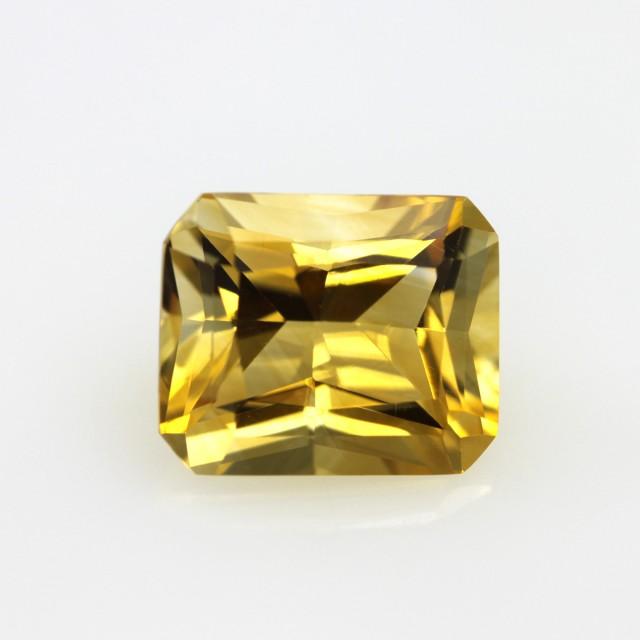 4.01cts Golden Yellow Citrine Radiant Cut