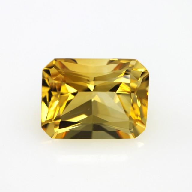 5.64cts Golden Yellow Citrine Radiant Cut