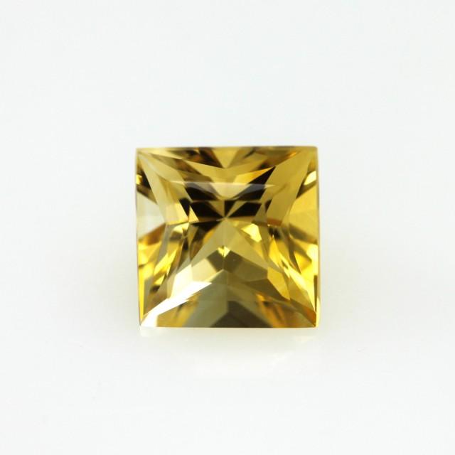 2.31cts Golden Yellow Citrine Princess Cut