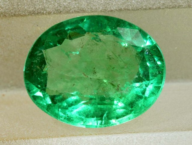 1.41CTS EMERALD FACETED GREEN STONE PG-2056