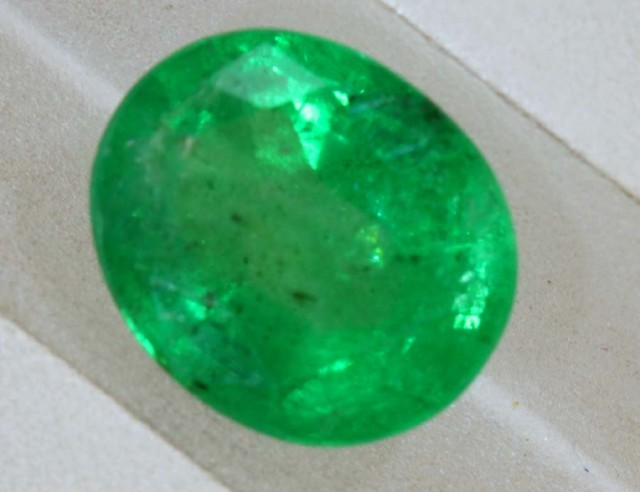 1.25CTS EMERALD FACETED GREEN STONE  PG-2059