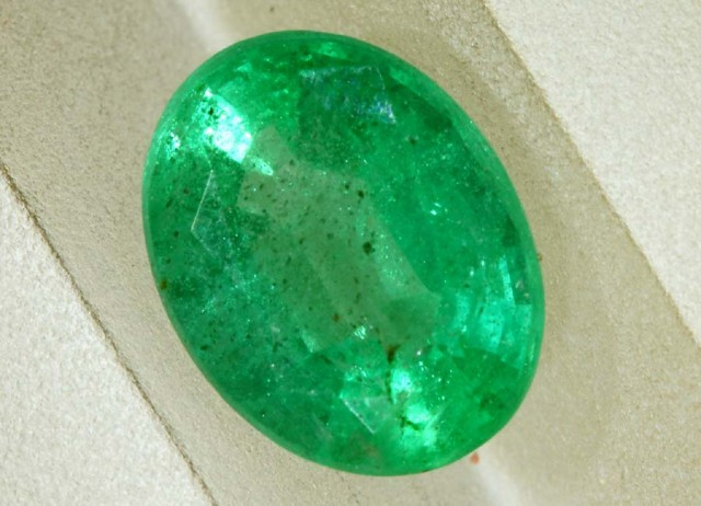 1.12CTS EMERALD FACETED GREEN STONE PG-2063