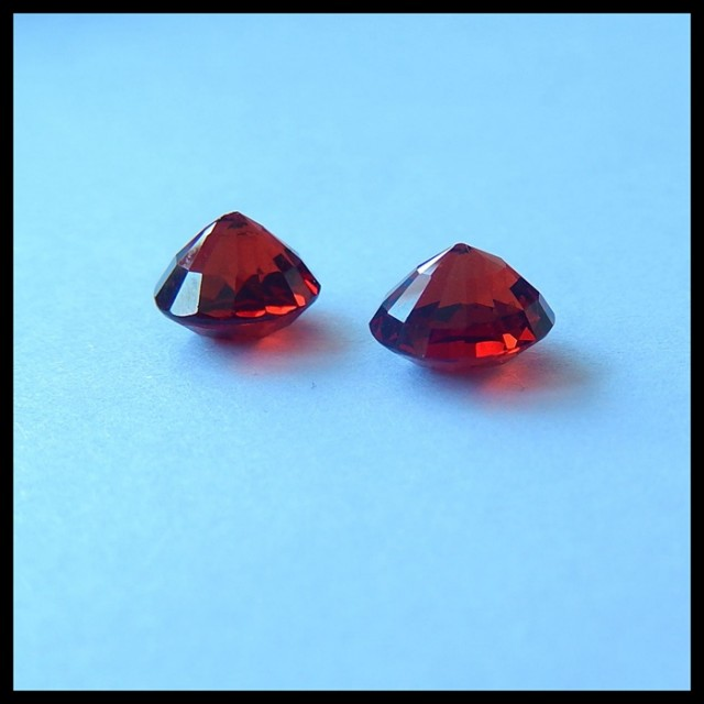 AAA Natural Garnet Faceted Cabochon Pair,8x6mm,5ct(17041701)