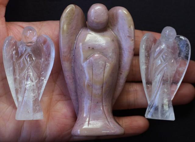 Three beautiful gemstone  holistic angels PPP1191