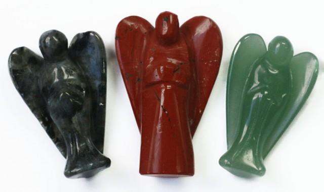 Three beautiful gemstone  holistic angels PPP1194
